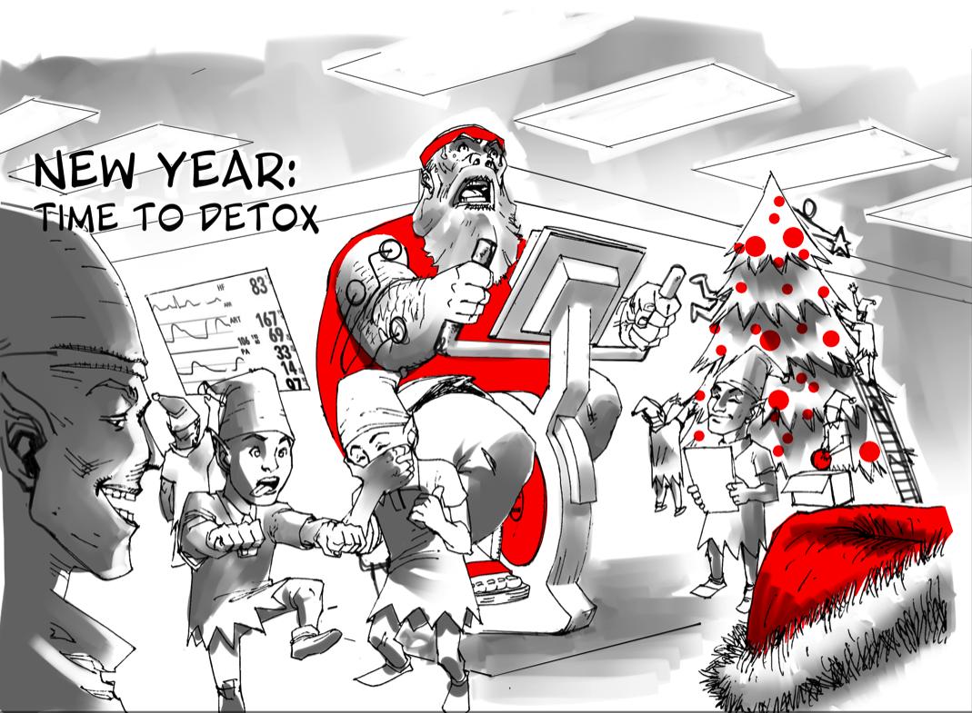 Santa's January Detox - Christmas Connections Blog