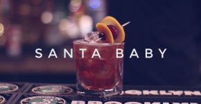 christmas inspired cocktail called Santa Baby