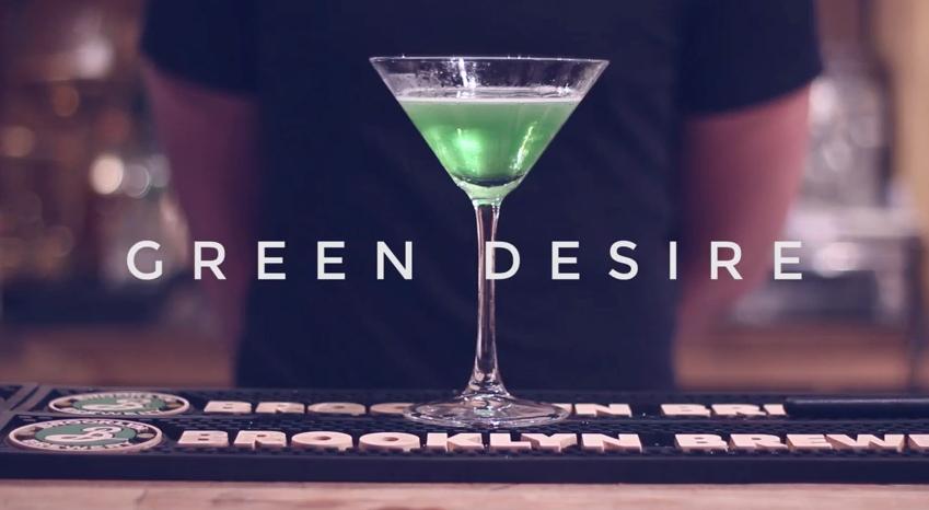Green Desire Christmas Cocktail