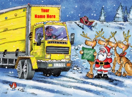 Christmas Hitch Hikers Yellow