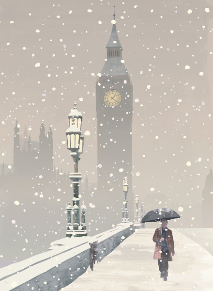Big Ben in the Snow