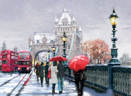 Tower Bridge - Snowy Landscape