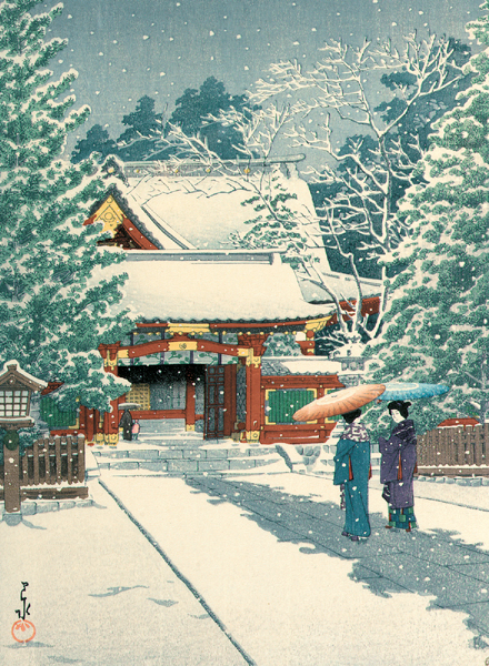 Snow in the Shrine Precincts