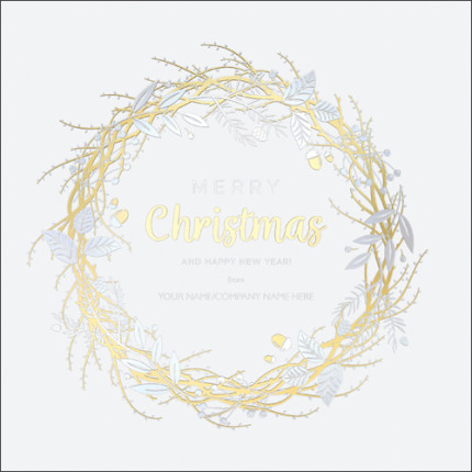 Gold & Silver Wreath