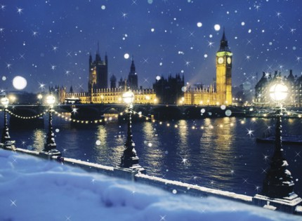 Houses of Parliament in Snow