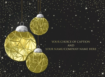 Christmas Baubles - Front Personalised