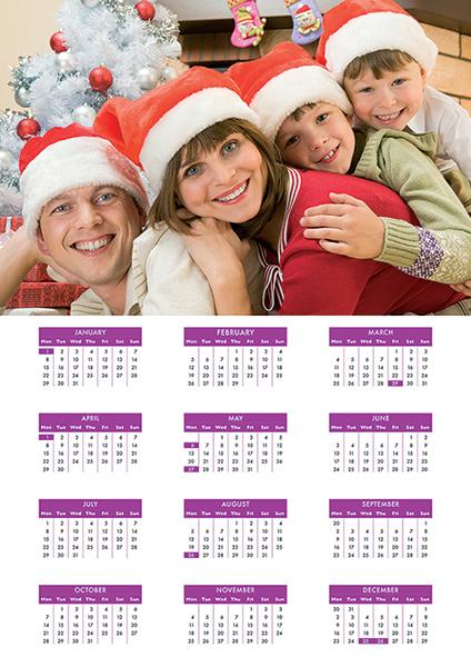 Own Photo<br>Flat Calendar