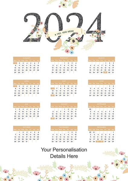 Flowers<br>Flat Calendar