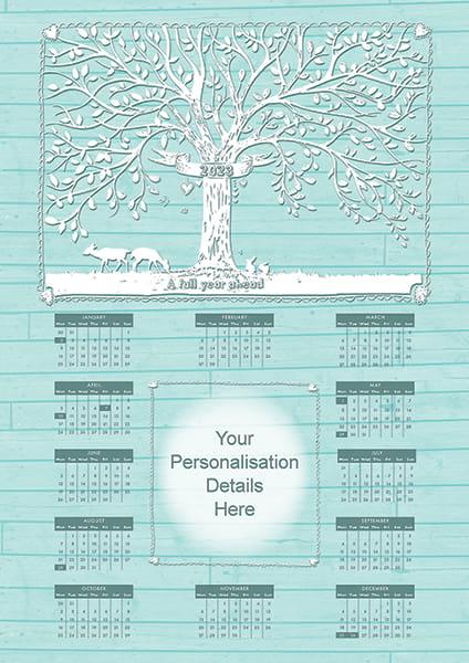 Tree<br>Flat Calendar
