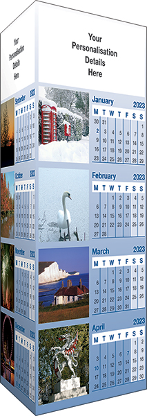 Around & About Folding Desk Calendar