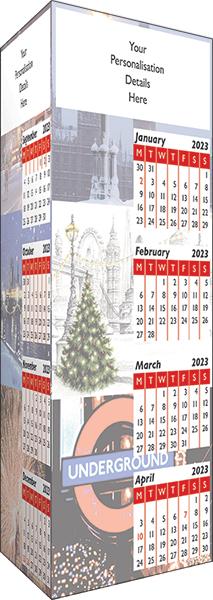 London Folding Desk Calendar