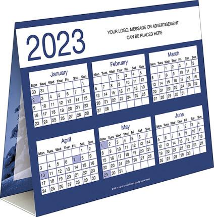 Blue Tree<br>Card Calendar