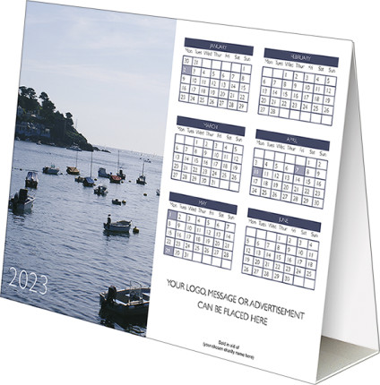 Blue Horizons<br>Folding Desk Calendar