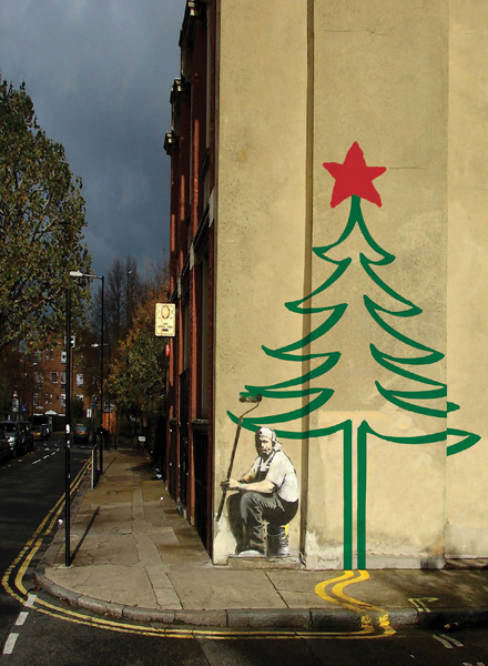 Banksy Christmas Tree